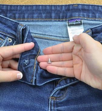 spijkerbroek knopen vervangen