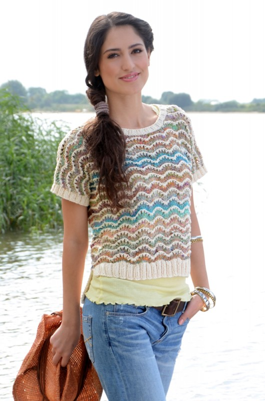 Noro Kibou sweater gebreid