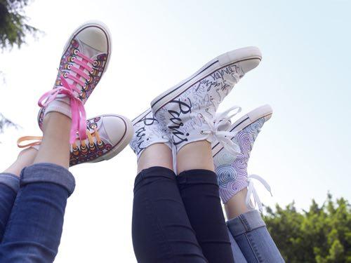 sneakers eigen ontwerp textielstiften