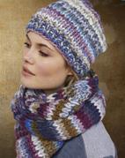 Gebreide sjaal en muts van Lei Color Mix