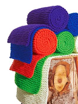 Start met een eenvoudige sjaal in een flitsende kleur