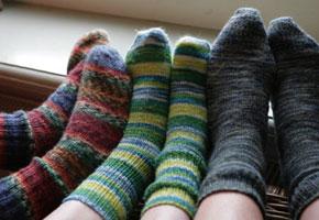 Origineel en comfortabel: zelfgebreide sokken