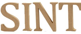 Letters papier-marche hout sint