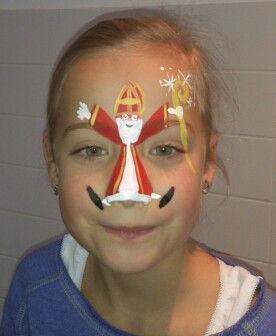 Schmink Sinterklaas gezicht tekenen