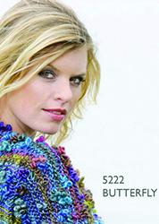 Vest gemaakt met Scheepjeswol Butterfly. Vrolijke kleuren met een vlinder effect