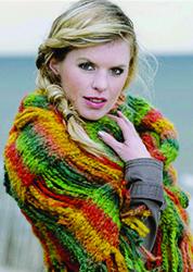 Brei een warme sjaal of poncho met Formosa breiwol