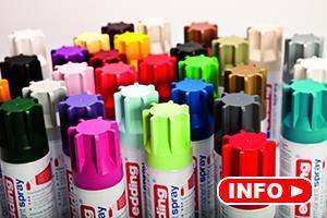 edding permanent spray spuitbussen in 30 verschillende kleuren