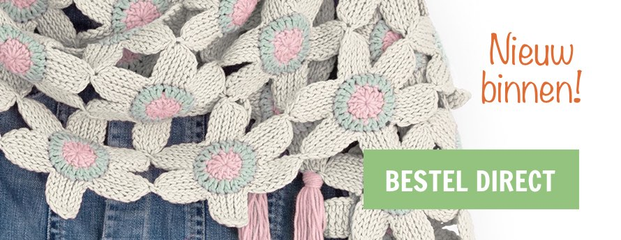 tunisian flower shawl durable | Hobby Gigant