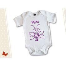 babyrompert met textielstift tekenen