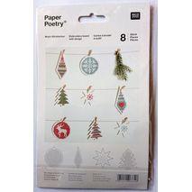 Borduurkaarten met 8 kerstfiguren | hobbygigant.nl