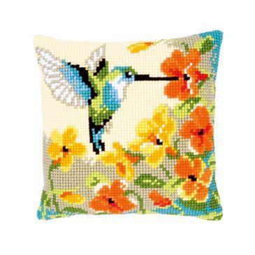 Vervaco Kolibrie met bloemen borduurpakket