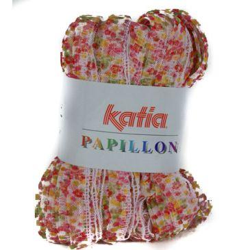 Pappillon van Katia, sjaal met tule kant