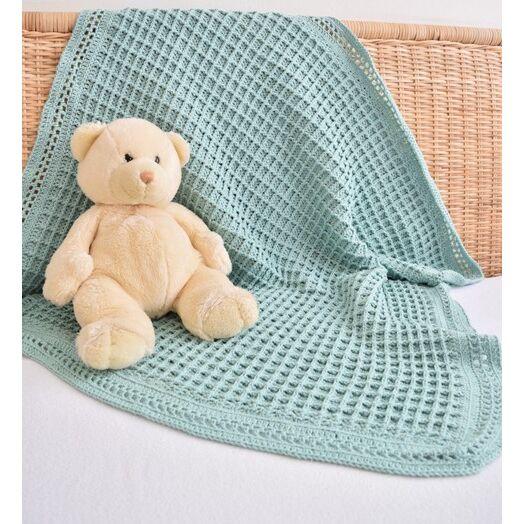 Magnifiek Baby dekentje haken met wafelsteek - haakpatroon | Baby 0-24 #PY46