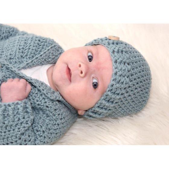 Zeer Babyvestje haken - stoer setje van vestje + mutsje | haakpakket @HX89