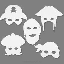 Piraten maskers om zelf te kleuren