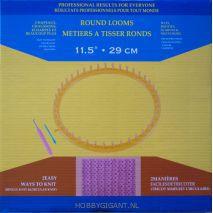 Gele breiring 29 cm