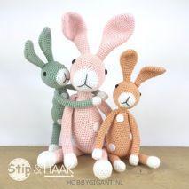 Snuf konijn mini van Stip en Haak | Hobby Gigant