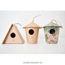 Vogelhuisje met decoupage papier | Hobby Gigant