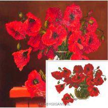 Red Poppies - Diamond Dotz