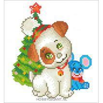 Christmas Puppy en Mouse - Diamond Dotz