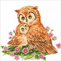 Mother en Baby Owl - Diamond Dotz